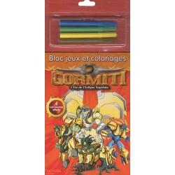 Gormiti : Bloc jeux et coloriages, avec 4 feutres