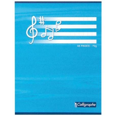 Cahier musique 17x22 - 48 p - séyès-musique et chant