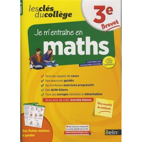 les cles du college maths 3e