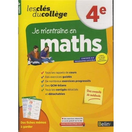 les cles du college maths 4e