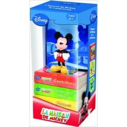 La Maison de Mickey : Une figurine et trois livres pour apprendre les formes, les contraires et les nombres