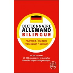 Dictionnaire de poche allemand. Bilingue