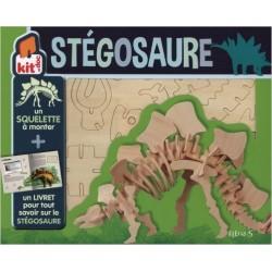 Stégosaure : Un livret et un squelette à monter