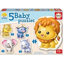 Educa - 13473 - Puzzle Baby Animaux