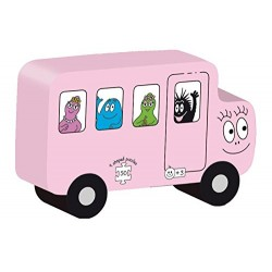 Dujardin - 62210 - 9 Puzzles Transport Barbapapa Decoupes - 50 Pièces