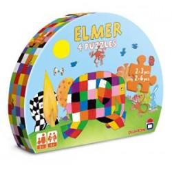 Dujardin - 62216 - 4 Puzzles Elmer - Premier Age