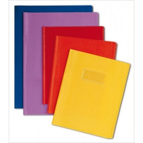 PROTEGE CAHIER 24X32 CUIR ROUGE 72403