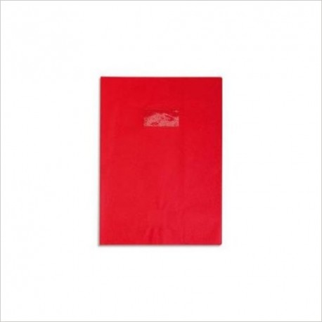 PROTEGE CAHIER A4 CUIR ROUGE 72203