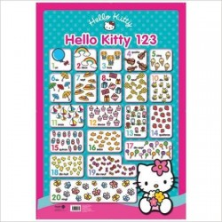 Poster éducatif Hello Kitty 1,2,3