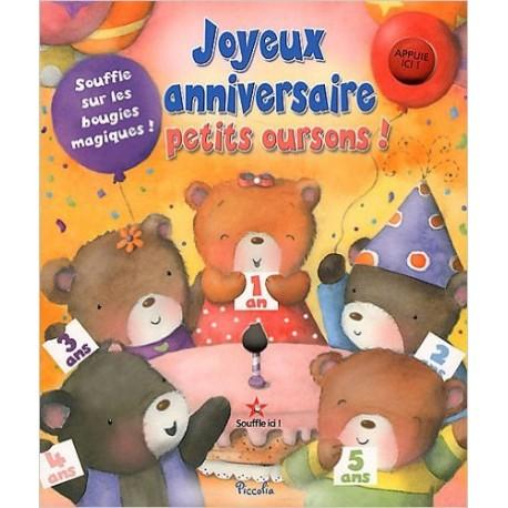 JOYEUX ANNIVERSAIRE PETITS OURSONS!