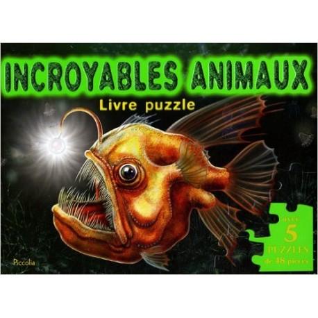 LIVRE PUZZLE INCROYABLE ANIMAUX