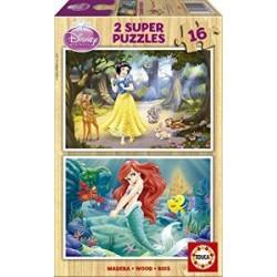 Educa - 15590 - Puzzle - Ariel + Blanche Neige - 2 x 16 Pièces