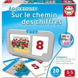 Educa - 15868 - Jeu Educatif - Sur Le Chemin Des Chiffres