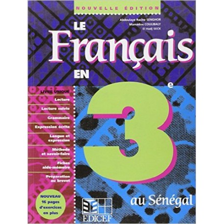 LE FRANCAIS DE TROISIEME AU SENEGAL
