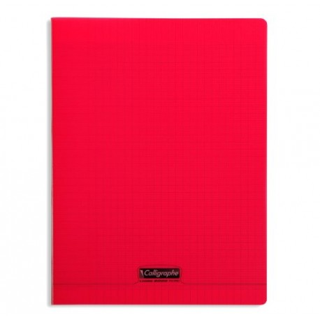 Cahier piqûre 24x32 rouge 18193