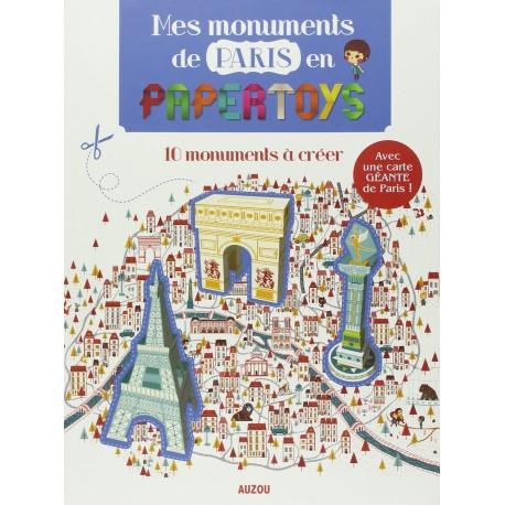Mes monuments du Paris en papertoys
