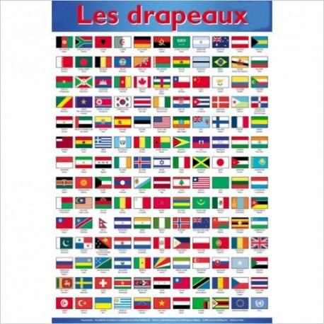 P* posters/les drapeaux