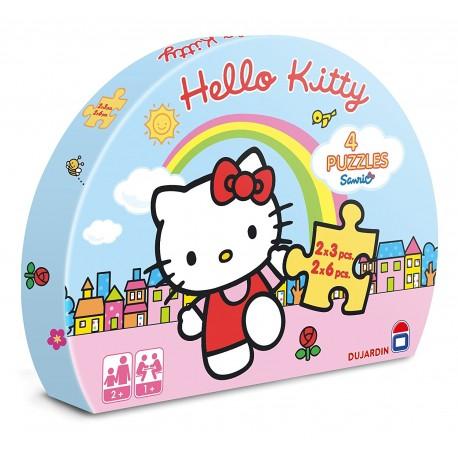 Dujardin - 62219 - 4 Puzzles Hello Kitty - Premier Age