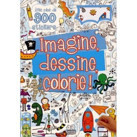 Imagine, dessine, colorie ! (bleu)