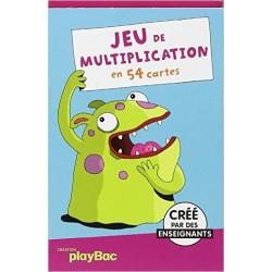 Cartes éducatives Monstres - Jeu de multiplication