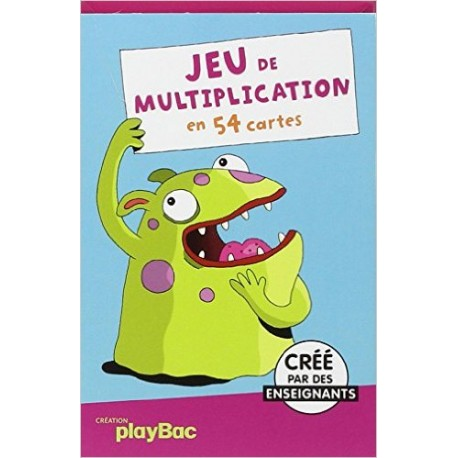 JEU DE MULTIPLICATION EN 54 CARTONS