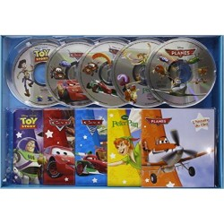 Coffret CD Cars 1 & 2, Planes, Toy Story, Peter Pan
