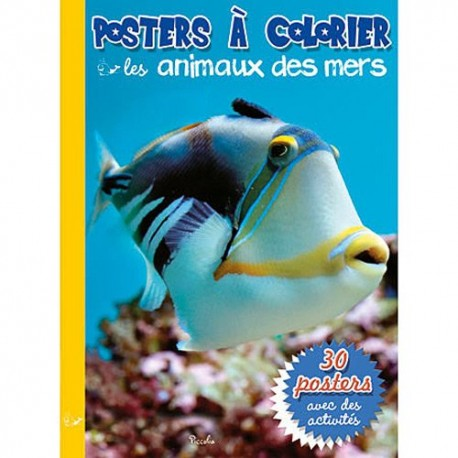 Poster à colorier: les animaux de la mer