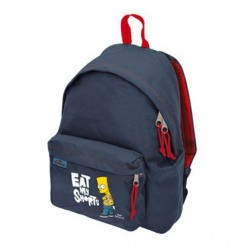 Sac à dos school backpack benette boy bleu