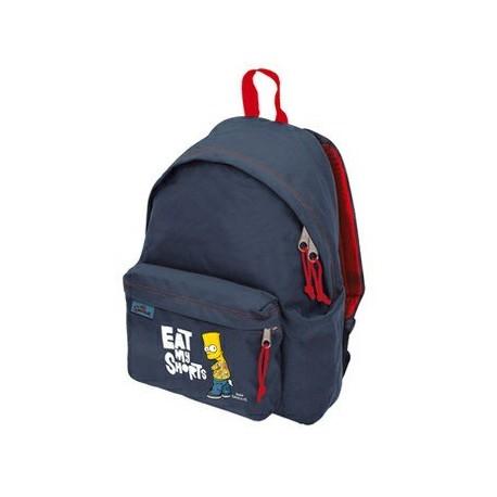 sac à dos school backpack benette boy bleu