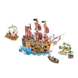decors geant magnetique bateau pirates