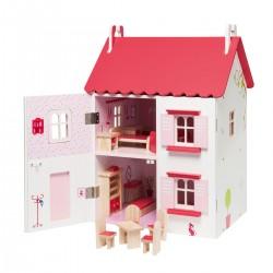 la maison de poupees meublee en bois