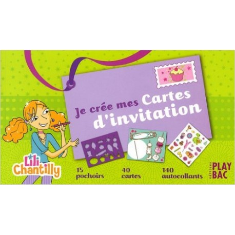 Je crée mes cartes d'invitation : Lili Chantilly