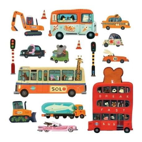 stickers geants vehicules teo djeco